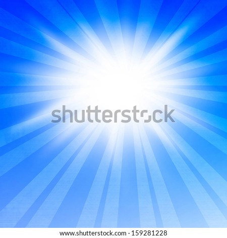 bright glowing summer sun on a soft background
