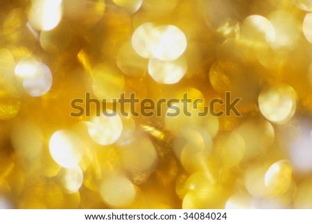 Bright golden abstract background with spherical textures