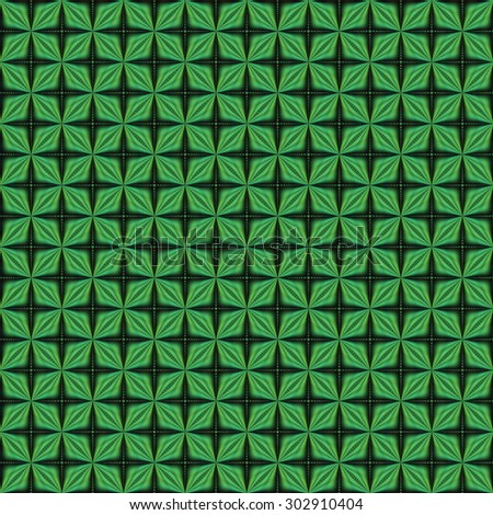 Bright green abstract shiny star / cross pattern on black background (tile able)  - stock photo