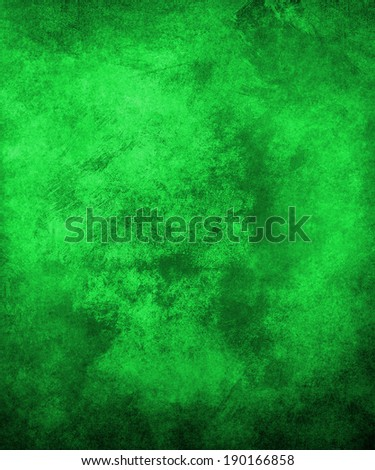 bright green background with old black and light shading border design - stock photo