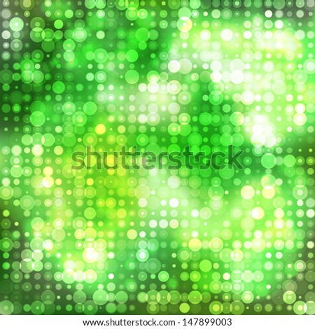 Bright green bokeh abstract glowing  background.