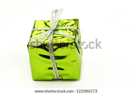 Bright green christmas box