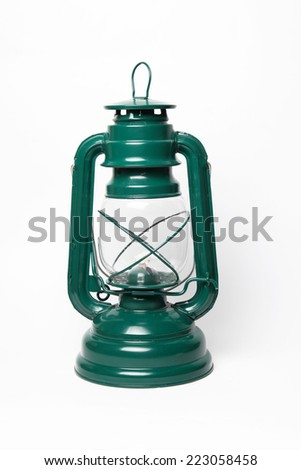 Bright green lantern - stock photo