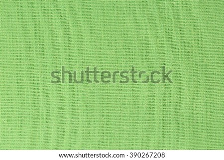 Bright green Linen Fabric Background with clear Canvas Texture - stock photo