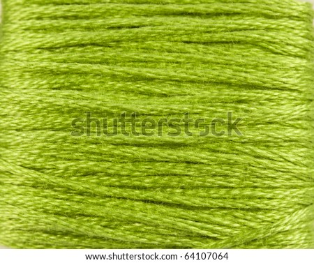Bright green Thread Background - stock photo