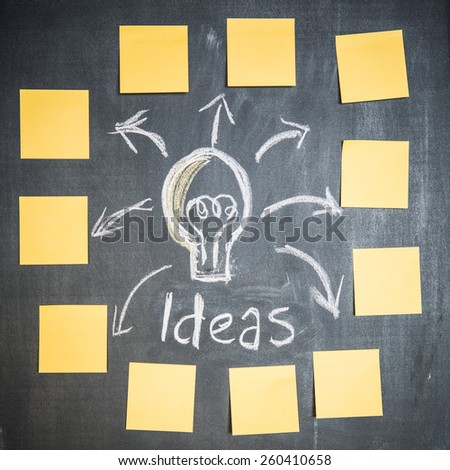 Bright ideas  - stock photo