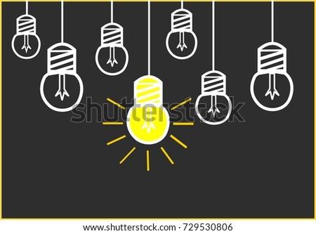 Bright Ideas Black Board Design Yellow Stock Illustration 729530806 ...