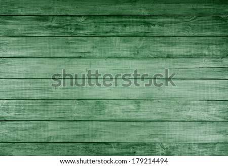 Bright Kelly Green Rustic painted board Background, perfect for St. Patricks Day or Christmas with room or space for copy, text, words, designs.   - stock photo