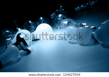 Bright Light Bulb - stock photo