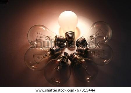 Bright Light Bulb - stock photo