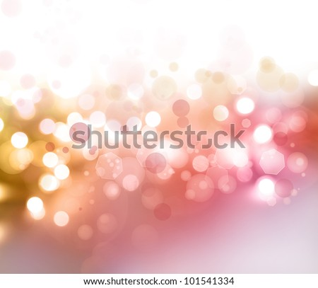 Bright lights abstract Christmas background. Copy space - stock photo