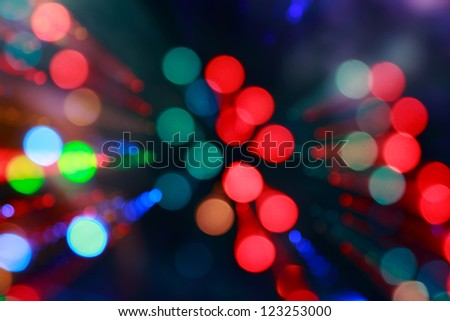 bright lights of the colour salute - stock photo