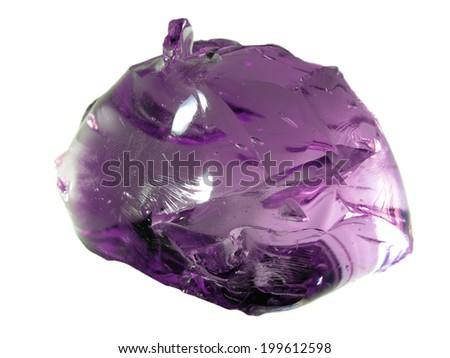 Bright magenta glass stone - stock photo