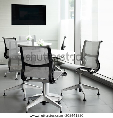 bright meeting room - stock photo