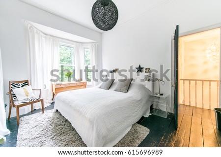 Bright Modern Designer Bedroom Stock Photo 615696989 Shutterstock