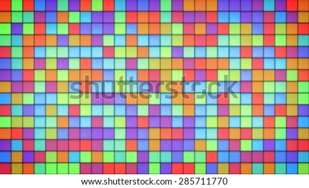 bright multicolor tiles glass mosaic. computer generated abstract background