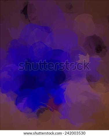 Bright neon brush strokes background - stock photo
