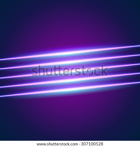 Bright neon lines background with 80s style - stock photo