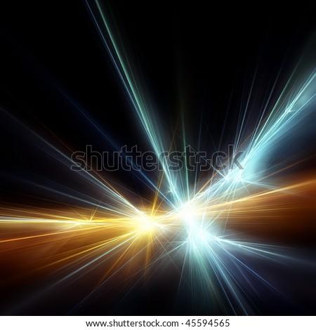 Bright nice star - stock photo