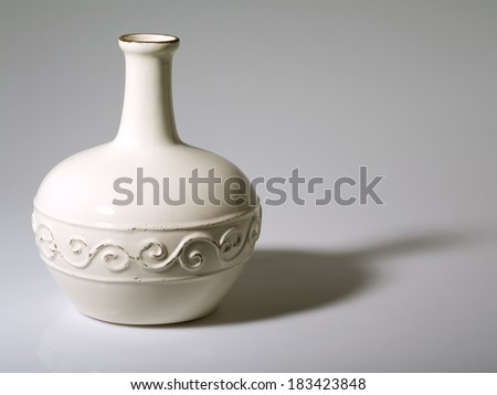 bright object on a gray background - stock photo