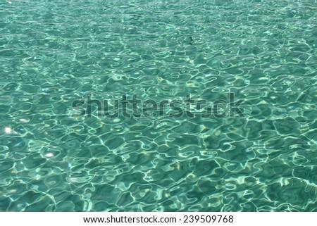 Bright Ocean Water - stock photo