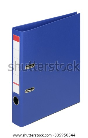 Bright office folders isolated on white background - stock photo