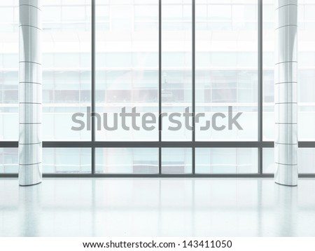 bright office window - stock photo