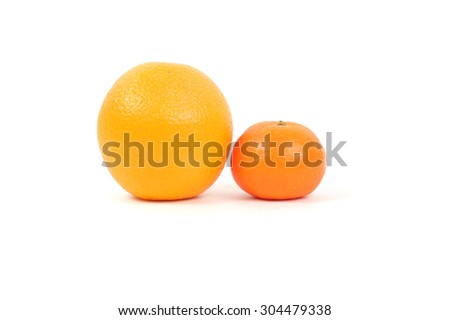 bright orange and tangerine closeup - stock photo