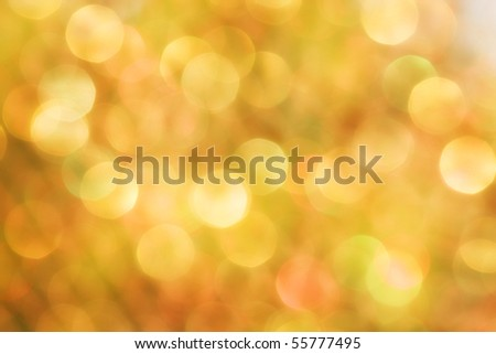 Bright orange bubble background