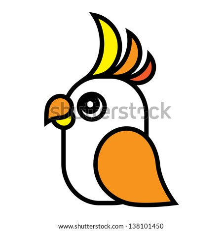 Bright parrot. - stock photo
