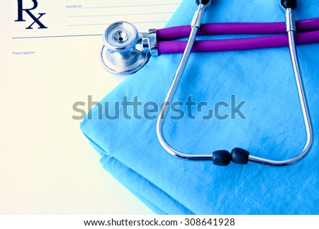 bright picture of two young attractive doctors - stock photo