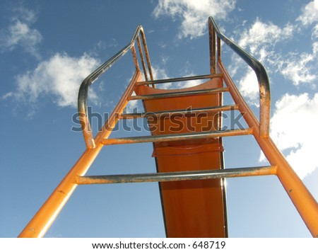 Bright playground ladder