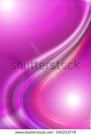 Bright purple background with glowing flowing curves and flares