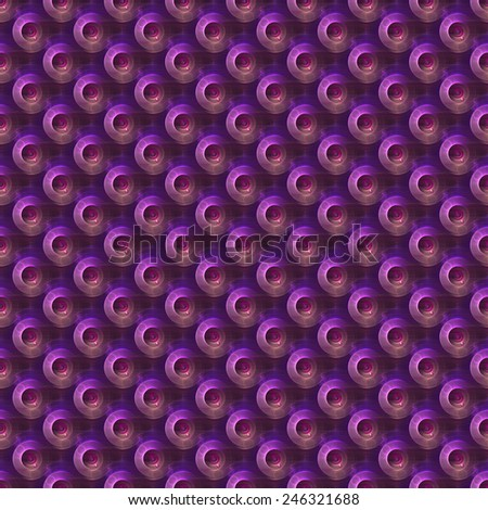 Bright purple / red / peach abstract 3D disc design on black background (tile able) - stock photo