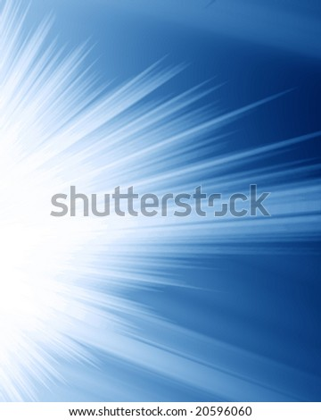 bright rays on a dark blue background