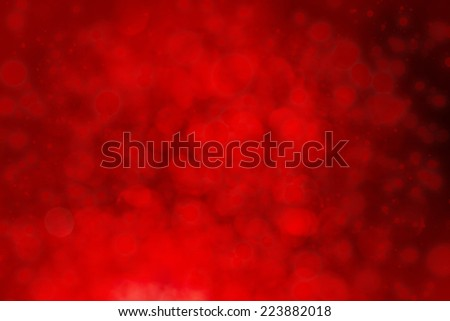 Bright red defocused lights background with bokeh lights - stock photo
