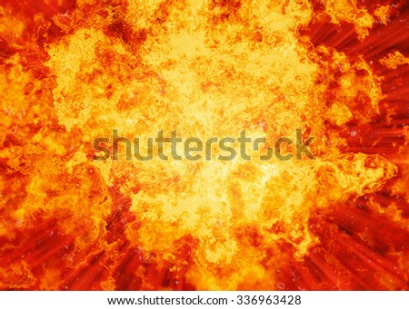 bright red fire burst explosion flash backgrounds - stock photo