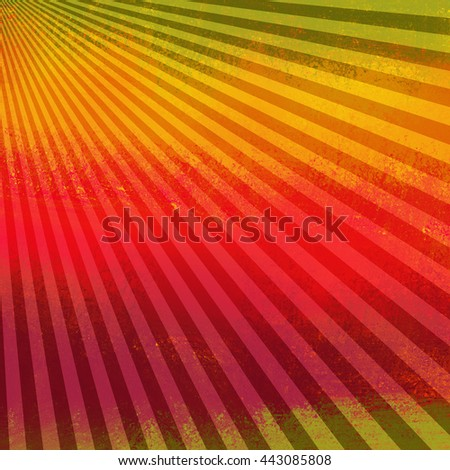 bright retro sunburst design background with texture - stock photo