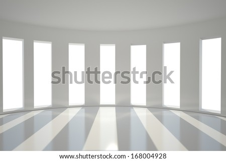 Bright room with windows