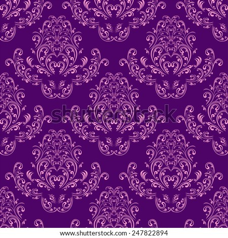 Bright  seamless Wallpaper - violet and pink. Raster version. - stock photo