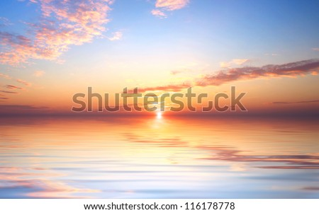 Bright sky and sundown. Abstract composition - stock photo