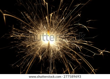 Bright sparks from a sparkler