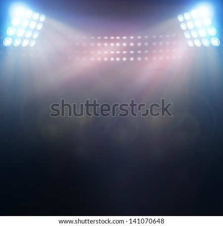 bright spotlights, - stock photo