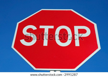 Bright Stop Sign - stock photo