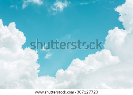 Bright summer sky with beautiful clouds - stock photo