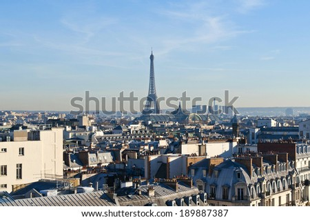 Bright sunny day in Paris