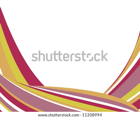 Bright, swoopy striped border - stock photo