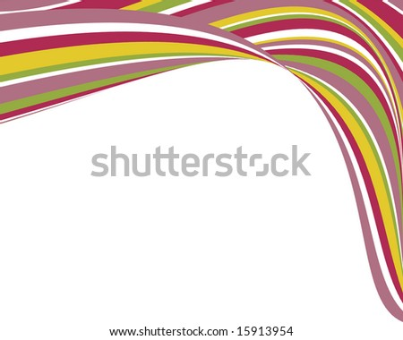 Bright, swoopy stripes border