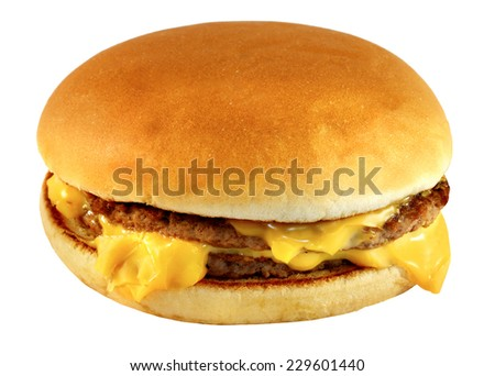 bright tasty burger on a white background