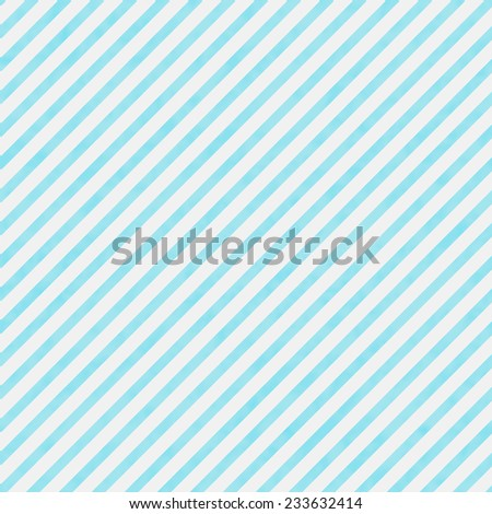 Bright Teal and White Striped Pattern Repeat Background that is seamless and repeats - stock photo